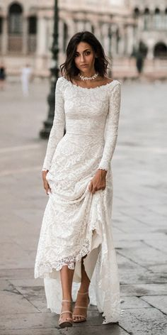 21 Top Wedding Dresses 2018 wedding dresses 2018 a line with long sleeves lace wearyourlovexo Source by beriaslan The post 21 Top Wedding Dresses 2018 appeared first on Do It Yourself Fashion. Wedding Dresses 2018, Wedding Attire, Bridal Dresses, Modest Wedding, Dresses Dresses, Simple Lace Wedding Dress, Popular Wedding Dresses, Wedding Blue, Dresses Online