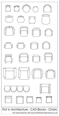Free Cad Blocks Chairs is part of Interior design sketches - Another set of free cad blocks from First In Architecture this time we have chairs in plan! Architecture Symbols, Architecture Blueprints, Interior Architecture Drawing, Interior Design Sketches, Free Interior Design, Architecture Design, Architecture Diagrams, Chinese Architecture, Landscape Architecture