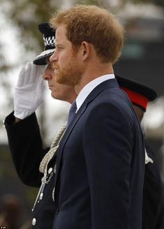 The prince later gave an emotional speech where he praised the work of the police officers