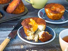 These little lemon and poppyseed cakes, with centres of cream cheese and lemon curd, are delightfully decadent and they stay fresh for days Lemon Sour Cream Cake, Lemon Syrup Cake, Lemon Drizzle Cake, Orange Recipes, Apple Recipes, Cake Recipes, Spinach Pasta Bake, Beef Fillet, Poppy Seed Cake