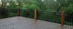 Wood Balcony Railings   ... Aluminum Fence Material be Used as a Deck or Balcony Railing System