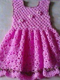 717024581 Patrón #1170: Vestido a Ganchillo   CTejidas [Crochet y Dos Agujas] Vestidos  · Vestidos Tejidos De NinaGanchillo BebeRopa Tejida Para ...
