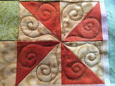 I'm so excited to be quilting this block from Pat Sloan's Globetrotting block of the month. Yesterday, I showed you the design: Tod...