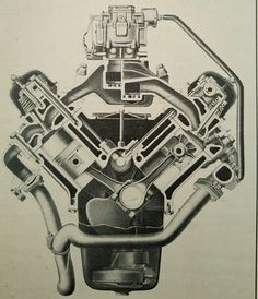 Studebaker V8 Engine Late 1950s/Early 1960s Cutaway View