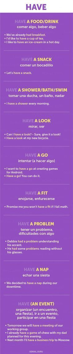 60+ frases con los verbos más necesarios en Inglés        Repinned by Chesapeake College Adult Ed. We offer free classes on the Eastern Shore of MD to help you earn your GED - H.S. Diploma or Learn English (ESL).  www.Chesapeake.edu #elearning #onlineschool