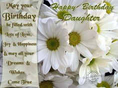 Birthday Wishes For Daughter - Birthday Images, Pictures
