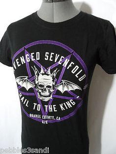 AVENGED SEVENFOLD Tee shirt Hot Topic women L Black Hail toThe King Band concert