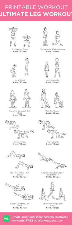 ULTIMATE LEG WORKOUT: my custom printable workout by @WorkoutLabs #workoutlabs #customworkout: