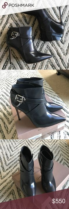 Gianvito Rossi booties 41 brand new! Gorgeous Leather slate booties. Worn by many celebrities this season. Super on trend and fall winter ready gianvito rossi Shoes