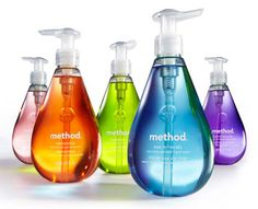 Method cleaning products are my favorite, so colorful and well designed too! I think were changing to all method cleaning products :) Method Hand Soap, Method Cleaner, Method Cleaning Products, Cleaning Hacks, Cleaning Supplies, Philippe Apeloig, Clean My House, Green Cleaning, Bottle Design