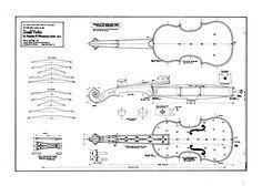Technical Drawing of Violino Piccolo by Girolamo Amati, Cremona, 1613