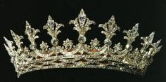 Hesse Strawberry Leaf Tiara This brilliant diamond Tiara has adorned the heads of several glamorous ladies with tragic endings. Designed by the consort of Queen Victoria, the piece grazed the heads of the Grand Duchesses of Hesse, descendants of his daughter Alice. Throughout the years, the Grand Duchesses had unhappy marriages and tragic deaths.