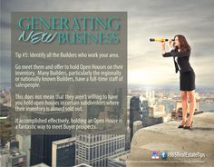 Generating New Real Estate Business   Tip #5 - Identify your local Builders.