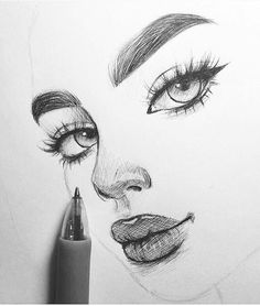 Secrets Of Drawing Realistic Pencil Portraits - Discover The Secrets Of Drawing Realistic Pencil Portraits Cool Sketches, Cool Drawings, Drawing Sketches, Drawing Tips, Drawing Ideas, Sketches Of Faces, Tumblr Art Drawings, Love Drawings Couple, Tumblr Girl Drawing