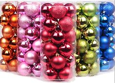 Yoland 24ct 60mm23 in Barrel Plating Shockproof Christmas Ball Ornaments Green -- Be sure to check out this awesome product.