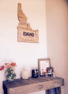 The Best of Idaho - The Gem State Idaho Wood Sign Wall Hanging