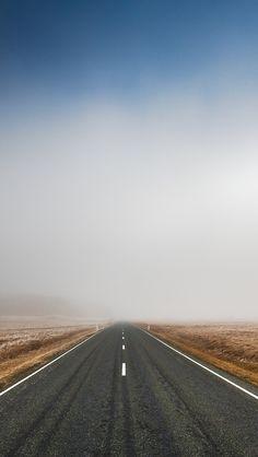 Mist Highway iPhone Wallpaper