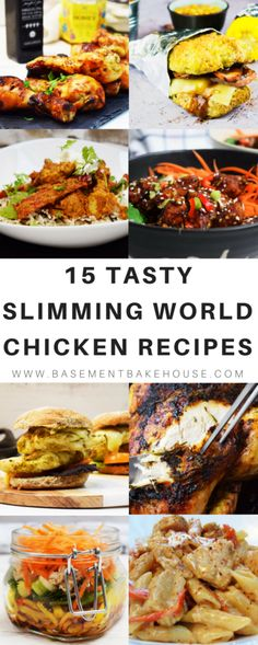 15 of the BEST Slimming World Chicken Recipes to try this week! Shake things up in the kitchen with some interesting healthy recipes and lots of inspiration for family friendly meals! From lunch time meal prep to comfort food dinners! Healthy Eating Recipes, Clean Eating Snacks, Cooking Recipes, Healthy Food, Healthy Smoothies, Healthy Recipes Dinner Weightloss, Vegetarian Food, Diabetic Recipes, Cooking Ideas
