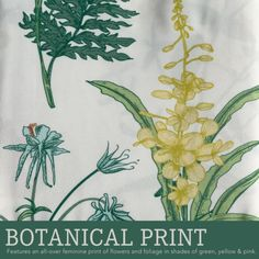 BOTANICAL PRINT: The Geneva curtains feature an all-over feminine print of flowers and foliage in shades of green, yellow and pink.