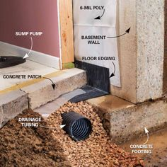 Affordable Ways to Dry Up Your Wet Basement For Good: Install a Drainage System #home #repair