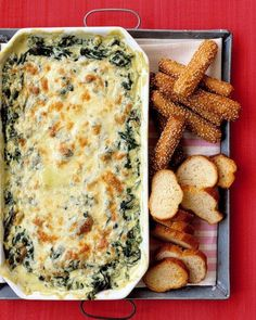 Game Day Salsas and Dips // Hot Spinach Dip Recipe