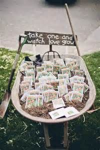 seed packet favors... love the sign!!