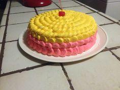 Strawberry&banana cake