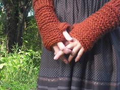 Autumn Warmers  Fingerless Armwarmer Gloves Chunky by nomadicknits, $28.00