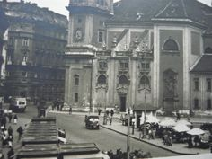 1932, Freyung Vienna Austria, Old World, Past, Old Things, Louvre, City, Building, Travel, Vintage