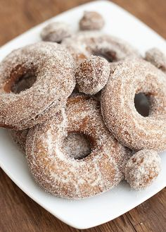 Is there anything more delicious than apple cider doughnuts?