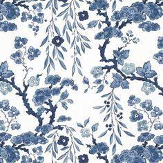 Tabley House Floral Porcelain Wallpaper - asian - wallpaper - Ralph Lauren Home