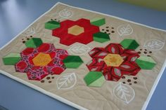 English paper piecing flowers