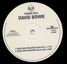 """For Sale - David Bowie Dead Man Walkin' UK Promo  12"""" vinyl single (12 inch record / Maxi-single) - See this and 250,000 other rare & vintage vinyl records, singles, LPs & CDs at http://eil.com"""