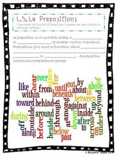 L.5.1 Conjunctions, Prepositions, Interjections, Perfect V