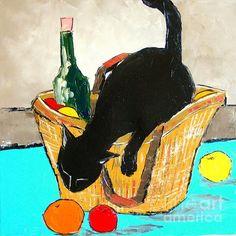 Return From Market Black Cat by Atelier De Jiel