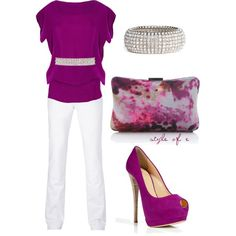 """Magenta"" by styleofe on Polyvore"