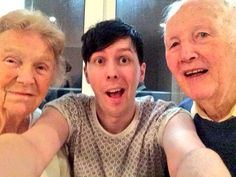 Amazingphil and his grandparents