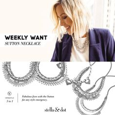 Weekly Want! Just bought this beauty and have received so many compliments :) #showstoppingstyle Visit www.stelladot.com/jenniferjohnston