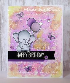 Adorable Elephant: MFT, watercolor, critter sketch, Kunis Bastelblog