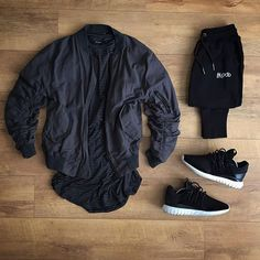 WEBSTA @ kylescropper - Be patient and good things will come Represent oblivion bomber Represent stripped under tee Blood Brother joggers Adidas tubular radial