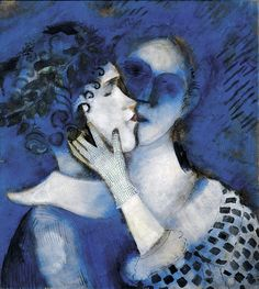 Marc Chagall, Blue Lovers (1914)