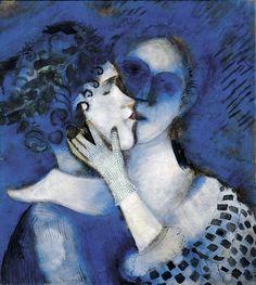 Marc Chagall - Gli amanti in blu (1914)
