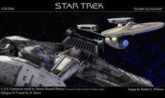 Enterprise versus Klingon K'T'Inga Class ship #startrek #klingon