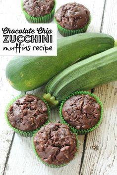 chocolate chip zucchini muffins recipe