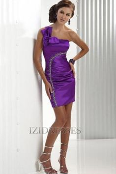 Trumpet/Mermaid One Shoulder Taffeta Prom Dress - IZIDRESSES.com