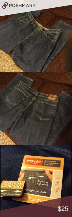 lyst s flex comfort in men wrangler comforter waistband waist authentics blue clothing light stonewash big tall jean