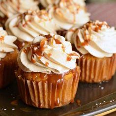Salted Caramel Carrot Cake Cupcakes Recipes Soft and moist carrot cakes are topped with Caramel Cream Cheese Frosting and topped with caramel drizzle and a sprinkl. Carrot Cupcake Recipe, Carrot Cake Cupcakes, Best Carrot Cake, Cupcake Recipes, Cupcake Cakes, Dessert Recipes, Easter Cupcakes, Mini Cakes, Salted Caramel Cupcakes