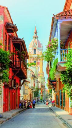 Cartagena | Tumblr Beautiful Places To Visit, Wonderful Places, Places To Travel, Places To Go, Colombia South America, Plitvice Lakes National Park, Colombia Travel, Colourful Buildings, Exotic Places