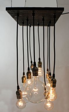 Small Urban Chandelier with varying vintage look by urbanchandy, $475.00