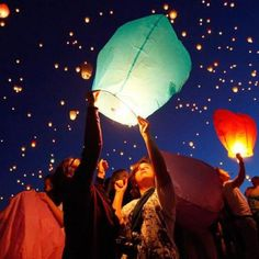 eco colored wish lanterns-pkg of 25
